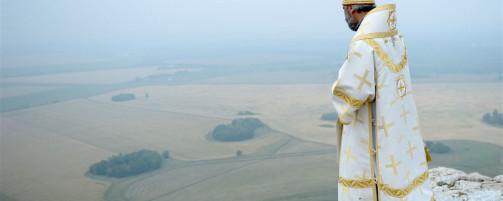 Епископ Николай совершил Литургию на вершине горы Таратау