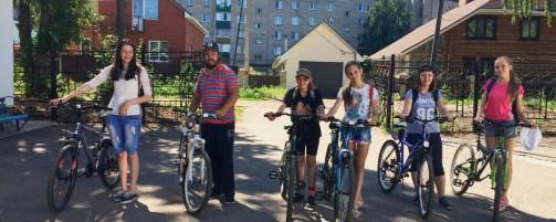 В день семьи, любви и верности состоялся велопробег