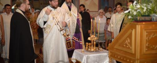 Епископ Николай совершил всенощное бдение в Свято-Троицком храме г. Ишимбай