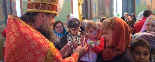 В день Светлой Пасхи состоится христосование батюшки с воспитанниками Воскресной школы
