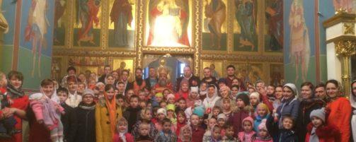Христосование с детьми воскресной школы