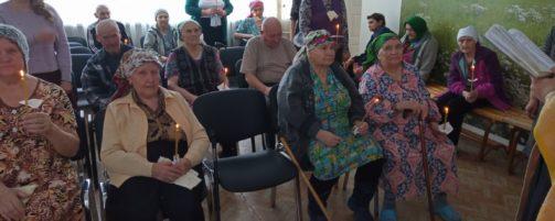 Таинство Елеосвящения (Соборования) в Доме престарелых г. Ишимбае